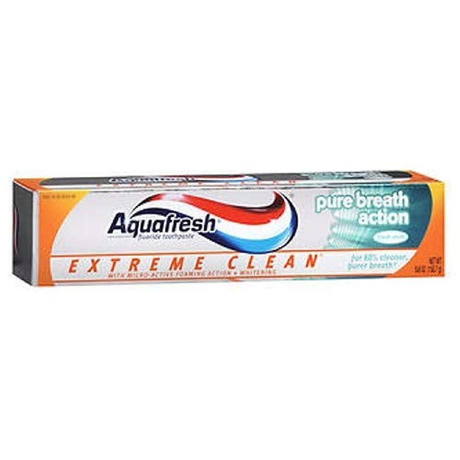 Aqua Fresh アクアフレッシュエクストリームクリーンピュアブレスアクション、フレッシュミント、5.6オンス、3パック