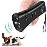 FANZO Handheld Dog Repellent, Dual Channel Ultrasonic Anti Barking Device, Pet Bark Stopper and Dog Training Tool