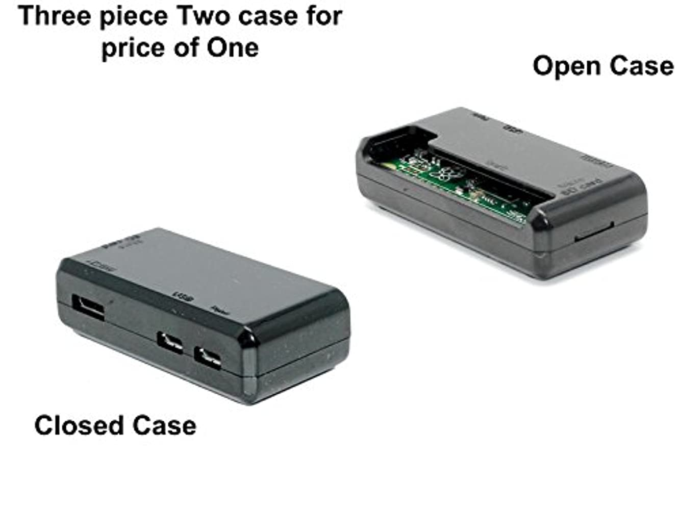 軌道船乗り能力SB高品質のRaspberry Pi Zeroケース‐「すべてのポートへアクセス」を30秒開け閉め装置 (ブラック)