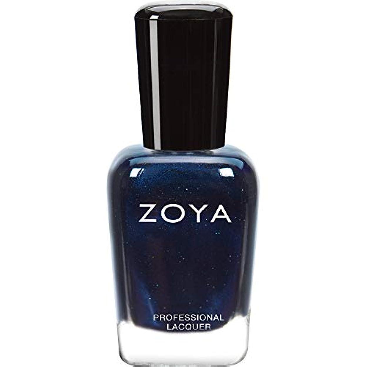 沿って二十解説ZOYA ゾーヤ ネイルカラー ZP415 INDIGO インディゴ 15ml 深いインディゴブルー マット?グリッター/メタリック 爪にやさしいネイルラッカーマニキュア