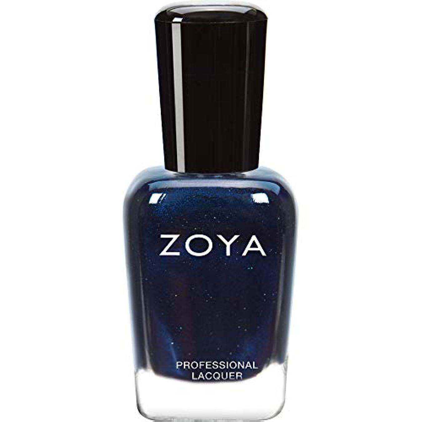 愛情深い同盟によるとZOYA ゾーヤ ネイルカラー ZP415 INDIGO インディゴ 15ml 深いインディゴブルー マット?グリッター/メタリック 爪にやさしいネイルラッカーマニキュア