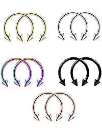 MagiDeal 10p. Dance Girl Nose Curved Spike Hoop Ring Body Navel Piercing Body Jewelry