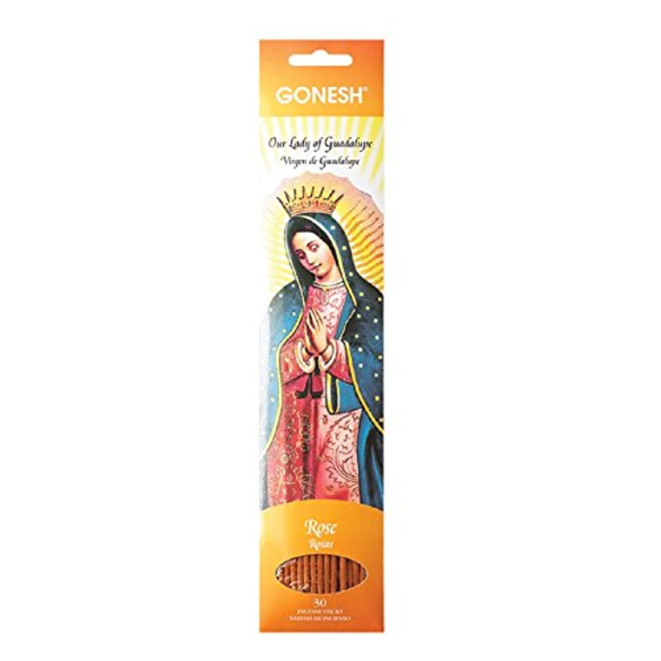 加速するスペシャリスト休みGonesh Incense Sticks守護聖人コレクションOur Lady of Guadalupeローズ、30ピース