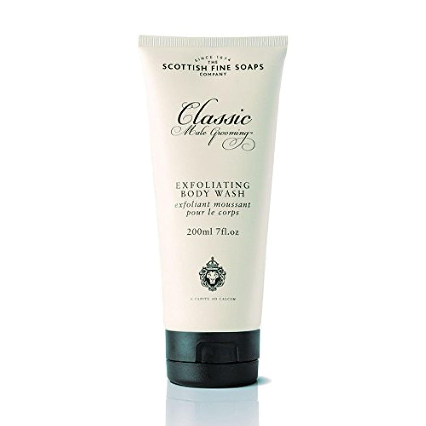 ハンマー息苦しい認可SCOTTISH FINE SOAPS(スコティッシュファインソープ) Classic Male Grooming(クラシックグルーミングシリーズ) ボディウォッシュ 200ml 5016365002509