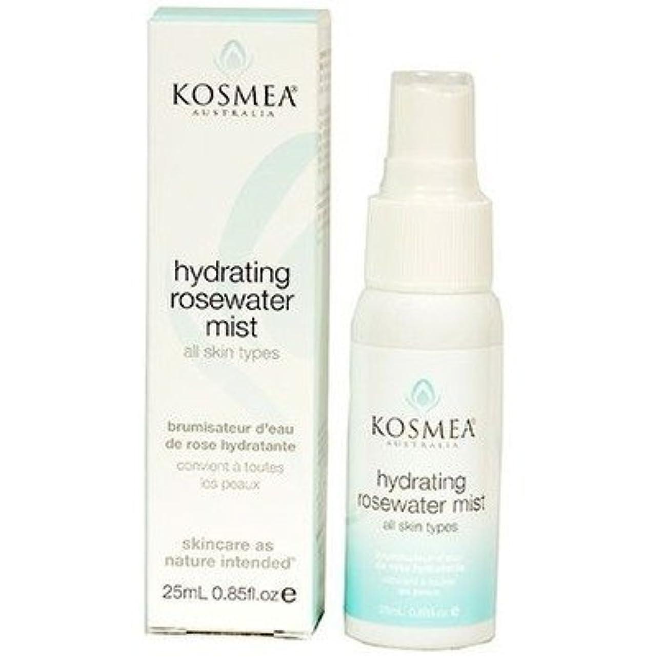 成分行政ほこりっぽい[KOSMEA] Hydrating Rosewater Mist 25ml コスメア ハイドレイティング ローズウォーターミスト 25ml【並行輸入品】【海外直送品】