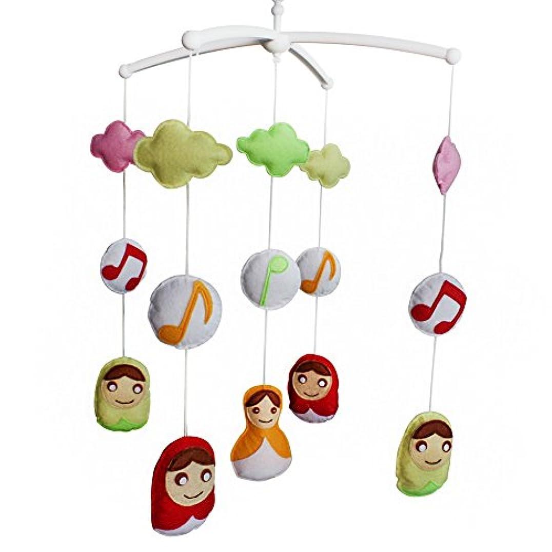 日記左鮮やかな[赤ちゃん]ベビークリブベル、手作りミュージカル携帯、ベビーギフト