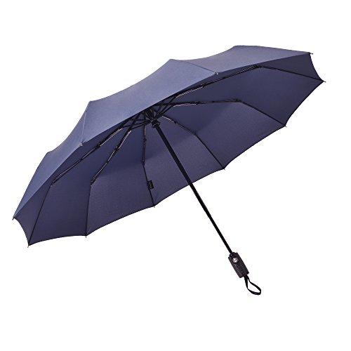 サイベナ Saiveina 折りたたみ 傘 自動開閉折り畳み傘 ワンタッチ自動開閉 晴雨兼用傘 ジャンプ傘 紳士傘 レディース傘 ビジネス傘 丈夫な10本骨(ブルー)