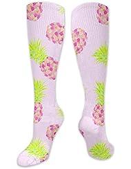 靴下,ストッキング,野生のジョーカー,実際,秋の本質,冬必須,サマーウェア&RBXAA Pink Pineapple Mini Socks Women's Winter Cotton Long Tube Socks Cotton...