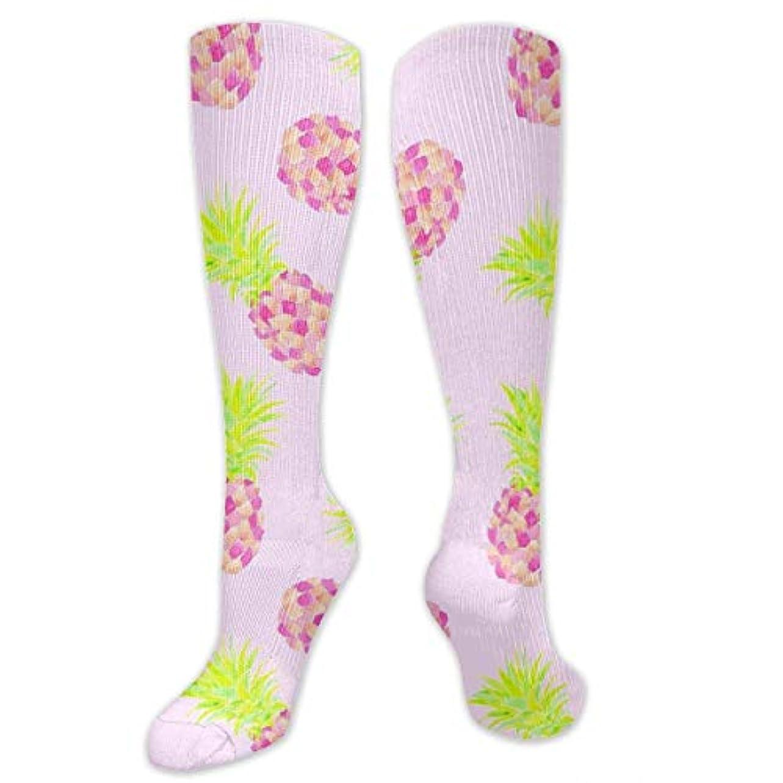 俳優シマウマ食堂靴下,ストッキング,野生のジョーカー,実際,秋の本質,冬必須,サマーウェア&RBXAA Pink Pineapple Mini Socks Women's Winter Cotton Long Tube Socks Cotton...