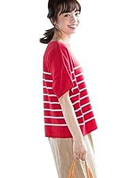 (コーエン) COEN tシャツ マリンジャカードボーダーTシャツ 76256028015 レディース
