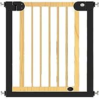 HUO 子供の安全門木製の階段のガードレールペットの隔離フェンス 省スペース (色 : ウッド うっど, サイズ さいず : 111-118cm-b)