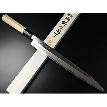 有次 包丁 ARITSUGU 特製 柳刃 300mm 白鋼2 築地 柄 名入れ 刺身