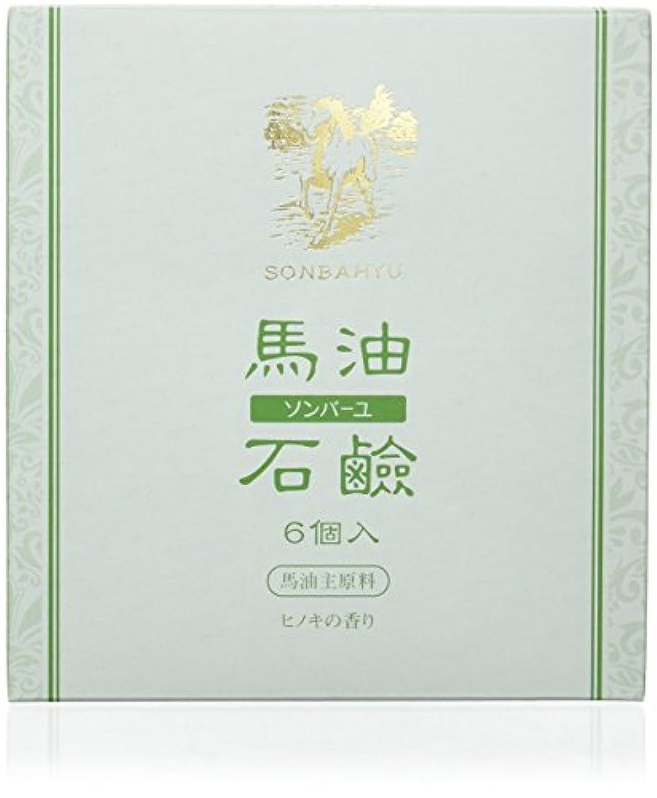 トリプル貼り直す一掃するソンバーユ石鹸 85g×6個 ヒノキの香り