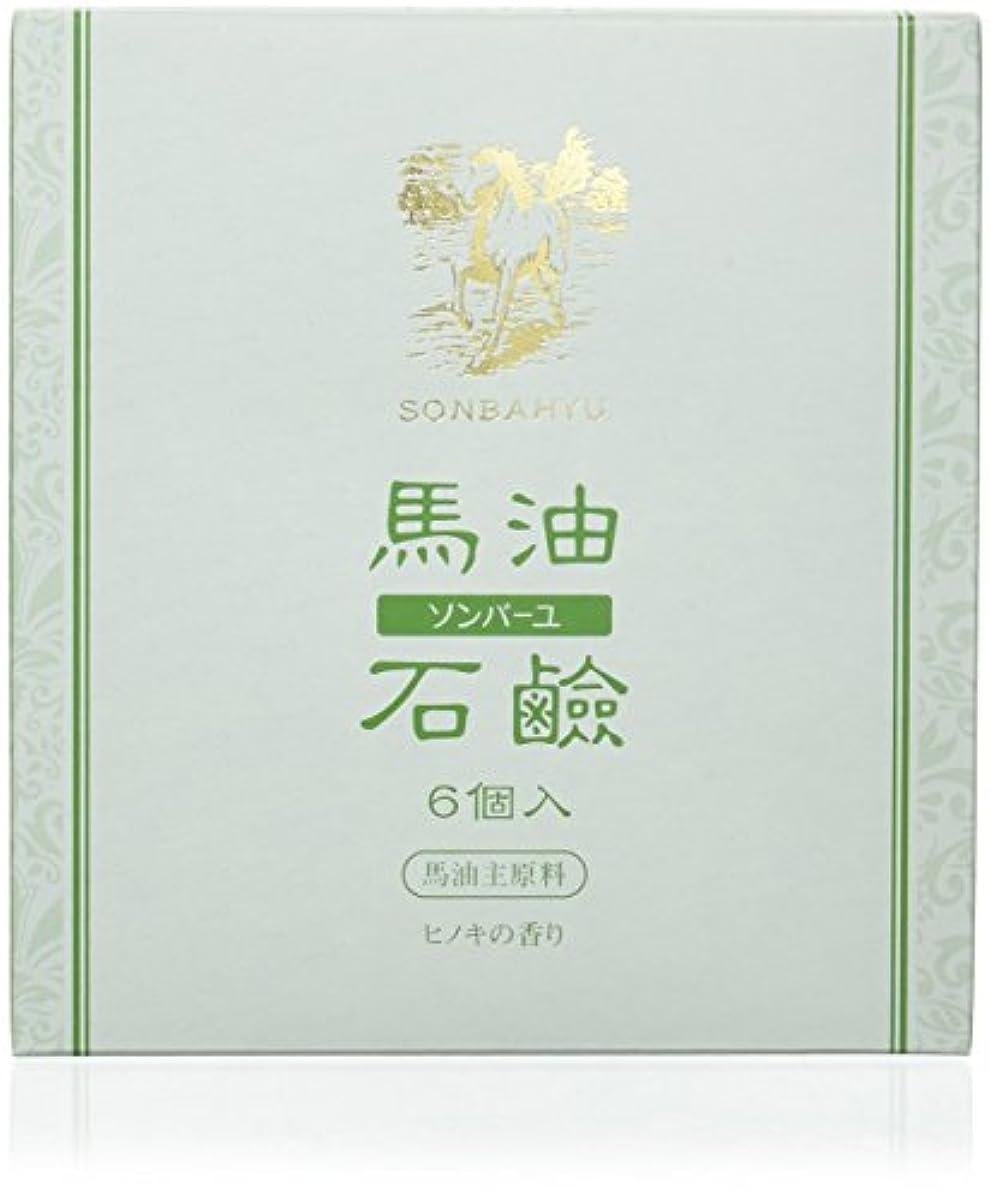 消毒剤独裁者内部ソンバーユ石鹸 85g×6個 ヒノキの香り