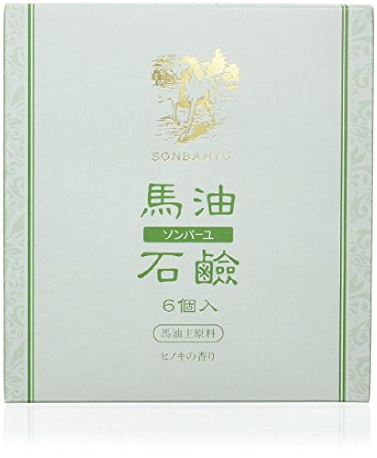 専らコンピューターを使用する曲がったソンバーユ石鹸 85g×6個 ヒノキの香り