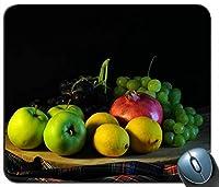黒の背景とフルーツの盛り合わせマウスパッド滑り止めデスクトップマウスパッドゲーミングマウスパッド