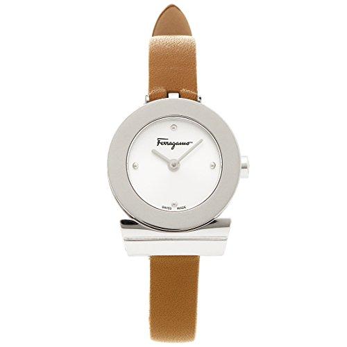 サルヴァトーレフェラガモ 時計 Salvatore Ferragamo F43010017 ガンチーニ レディース腕時計ウォッチ ブラウン/シルバー [並行輸入品]
