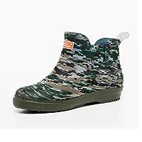 [Estoni] レインブーツ レインシューズ メンズ 完全防水 滑りにくい カモフラ柄 雨靴 雨具 ミドルブーツ 作業靴 業務用