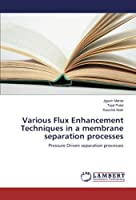 Various Flux Enhancement Techniques in a membrane separation processes: Pressure Driven separation processes