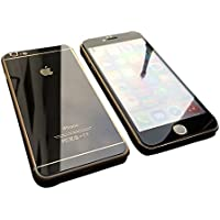 【hayarifashion】iphone6 5.5/4.7インチ 衝撃保護ガラスフィルム 液晶保護フィルム 鏡面ミラーキラキラ光るバックプレート前後鏡面ガラスフィルム 前後セット 0.20mm 表面硬度9H iPhone6/6PLUS対応 (iPhone6, ダックグレー)