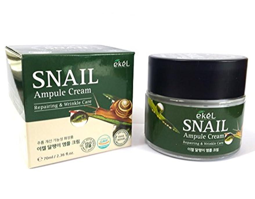 領収書恐ろしいです鮫[EKEL] カタツムリアンプルクリーム70ml / Snail Ampule Cream 70ml / / リペアリング&リンクルケア / ハイドレーティングクリーム / Repairing & Wrinkle Care...