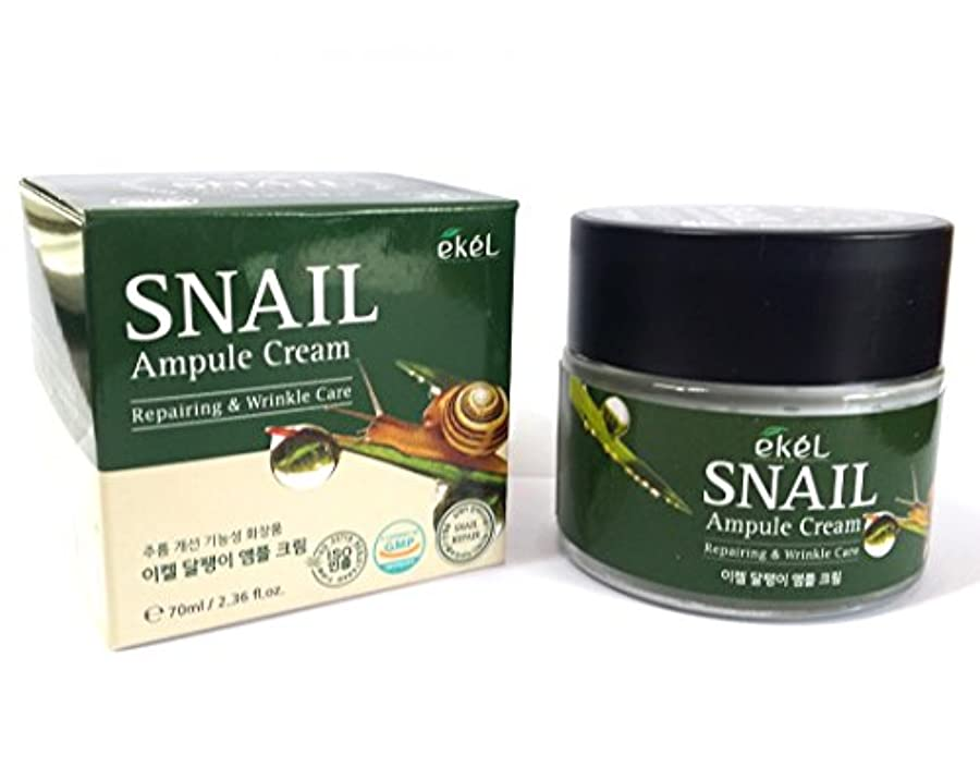 セメント出席する出席する[EKEL] カタツムリアンプルクリーム70ml / Snail Ampule Cream 70ml / / リペアリング&リンクルケア / ハイドレーティングクリーム / Repairing & Wrinkle Care/hydrating cream / 韓国化粧品 / Korean Cosmetics [並行輸入品]