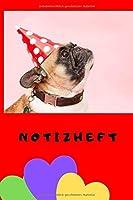 Notizheft: Ein praktisches Schreibheft mit coolem Hundemotiv, DIN A5, 120 Seiten, liniert