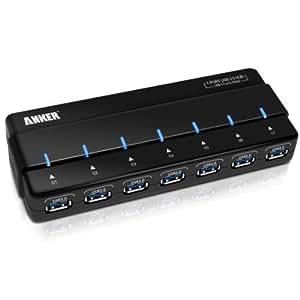 Anker USB 3.0 ハブ 7ポート (電源アダプター・USB 3.0 ケーブル付)