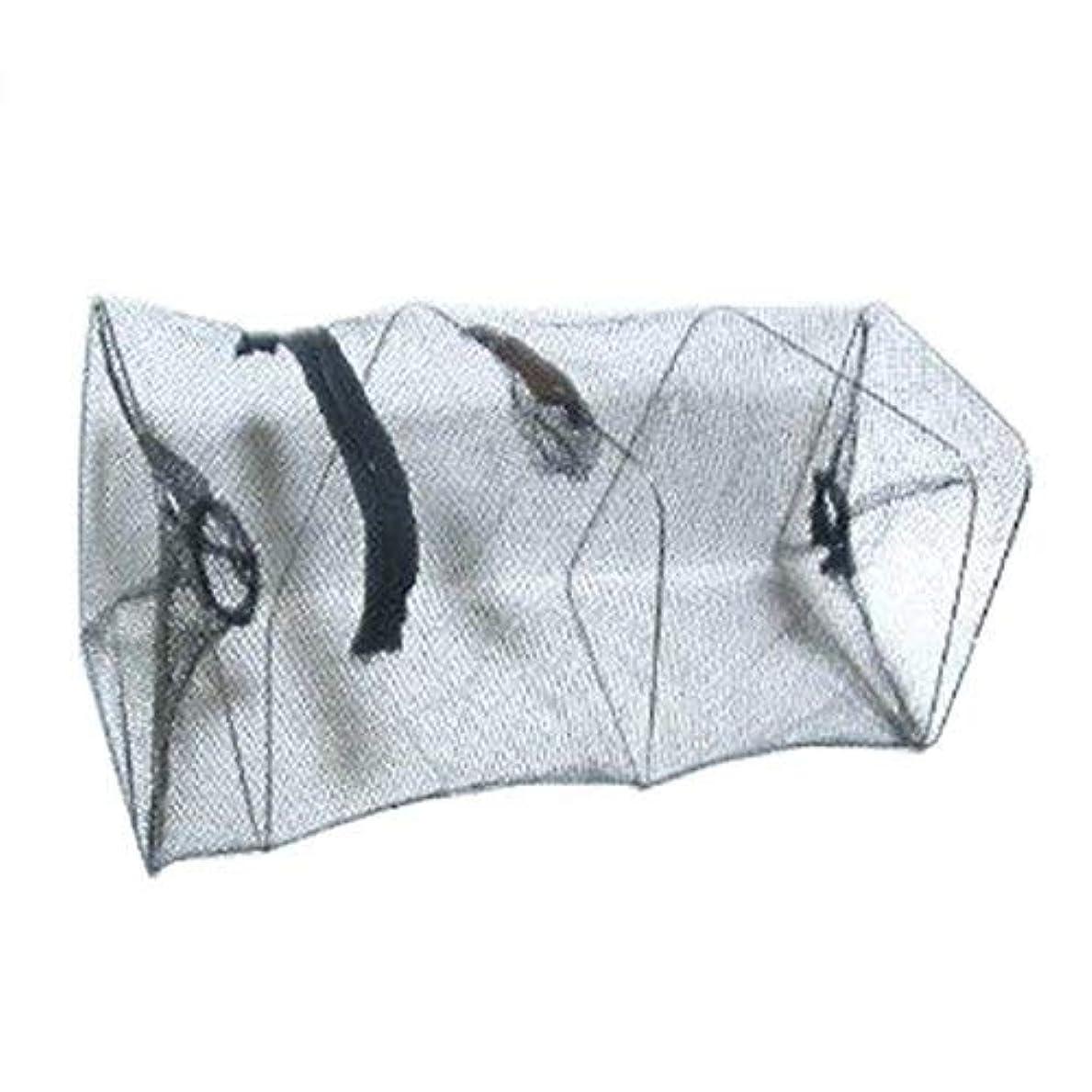 ハロウィン軽蔑簡単にUotyle (立柱形)捕穫網 爆釣 網かご 軽量 投げ網 折り畳み式 釣り仕掛け タコやエビ、カニや小魚などを捕穫 漁具