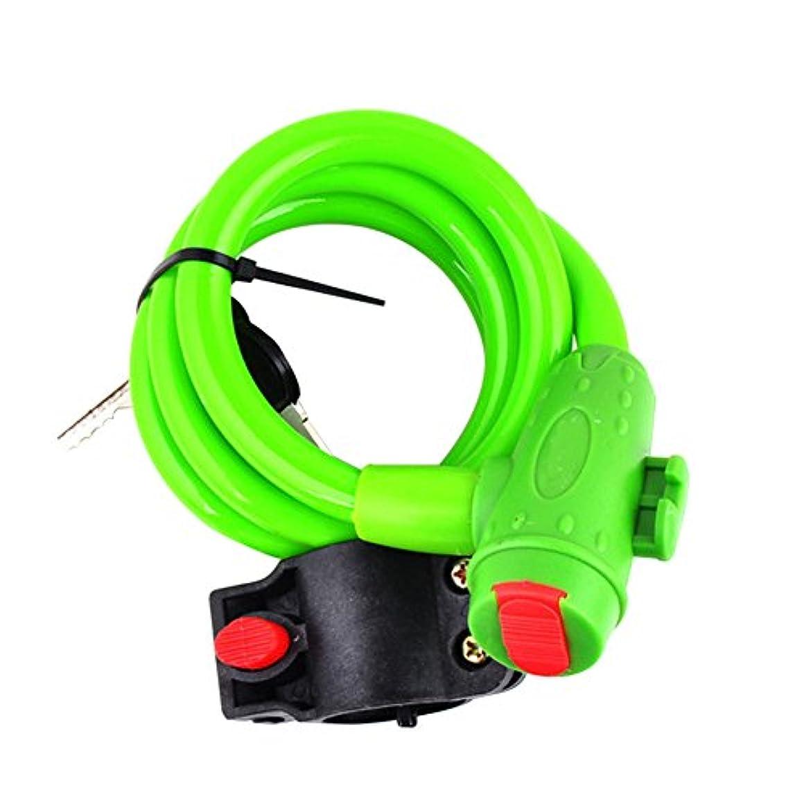 ケープ素晴らしさピケgawebユニバーサル5色自転車バイクサイクリングセキュリティ盗難防止スパイラルケーブルロック