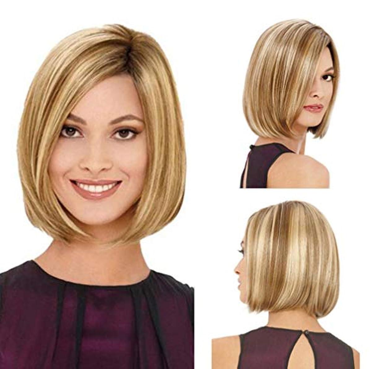 論理的に受け継ぐレビュアー女性のかつら人毛合成耐熱繊維かつらPreplucked調整可能なキャップ150%密度
