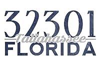 Tallahassee、フロリダ州–32301Zipコード(ブルー) 16 x 24 Giclee Print LANT-67666-16x24