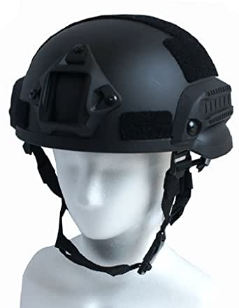 MICH2002 FASTヘルメット 4色 ミリタリー (ブラック)