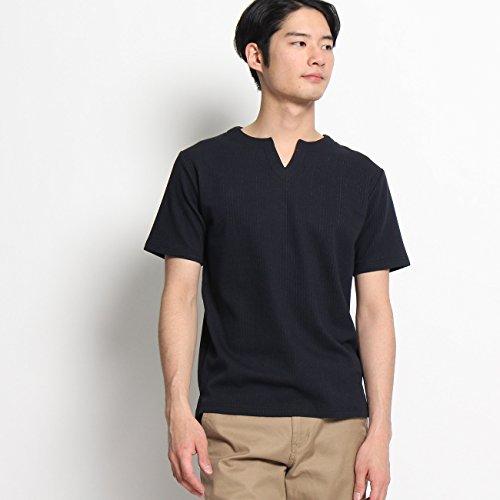 (ザ ショップ ティーケー) THE SHOP TK キーネックTシャツ 61632625 02(M) ネイビー(093)