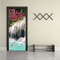 Mingld Hd滝自然風景壁画壁紙リビングルームの寝室3D壁ドア壁画ステッカー家の装飾-250X175Cm