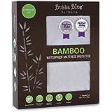 Bubba Blue Bamboo Mattress Standard Cot Protector, White