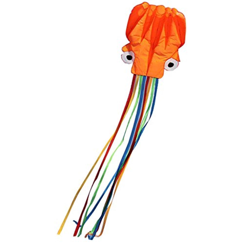 fenteer 13 ft31.5inオレンジOctopusカラフルなテールポータブルKiteポリエステル材質Perfect Toy for Kidsと子アウトドアゲーム