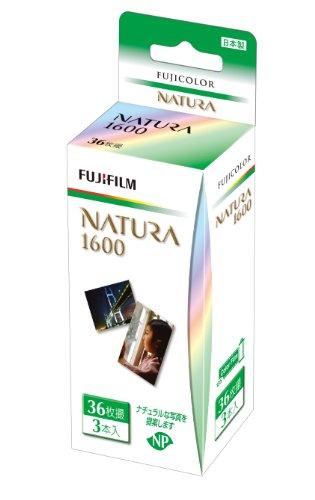 FUJIFILM カラーネガフイルム フジカラー NATURA 1600 36枚撮り 3本パック 135 NATURA 1600-R 36EX 3SB