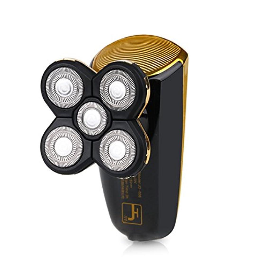 透明にファンブルフローメンズシェーバー 電気シェーバー 2in1多機能シェーバー 電動ひげ剃り 3Dフローティングヘッド 回転式 トラベルロック付き 坊主頭剃刀 USB充電 丸洗いOK