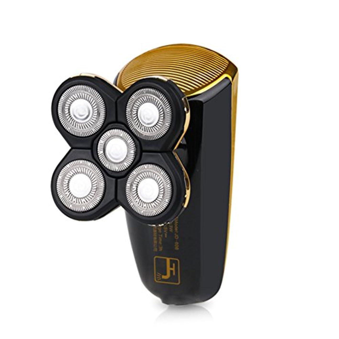 サスペンド寝室芽メンズシェーバー 電気シェーバー 2in1多機能シェーバー 電動ひげ剃り 3Dフローティングヘッド 回転式 トラベルロック付き 坊主頭剃刀 USB充電 丸洗いOK