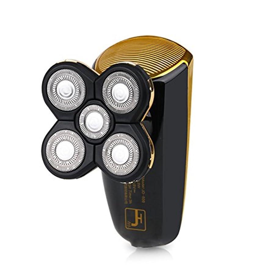 中でアフリカ人スズメバチメンズシェーバー 電気シェーバー 2in1多機能シェーバー 電動ひげ剃り 3Dフローティングヘッド 回転式 トラベルロック付き 坊主頭剃刀 USB充電 丸洗いOK