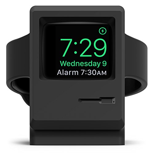 elago W3 STAND Apple Watch 専用 シリコン製 スタンド 充電スタンド付 for Apple Watch Series 2 / 1 各サイズ対応 ブラック【国内正規品】