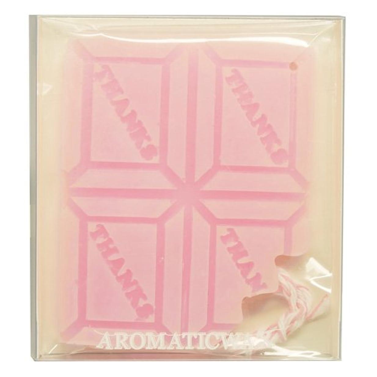 かなりのアルファベット順連帯GRASSE TOKYO AROMATICWAXチャーム「板チョコ(THANKS)」(PI) ゼラニウム アロマティックワックス グラーストウキョウ
