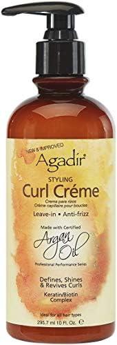 Agadir Argan Oil Styling Curl Creme by Agadir for Unisex - 10 oz Cream, 295.7 ml