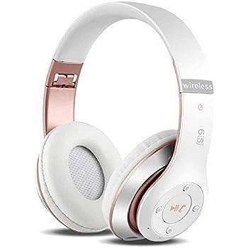 6Sワイヤレスヘッドホン耳を覆う形、Hi-Fiステレオ折り畳み式ワイヤレスステレオヘッドセット、内蔵したマイク付き、マイクロSD/TF、FM対応 iPhone/Samsung/iPad/PC用