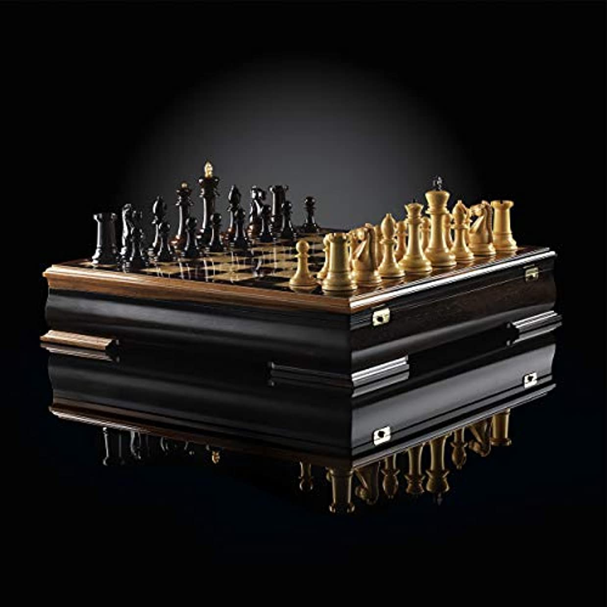 ハンドメイド チェス スタントン ラグジュアリー (マカサー / ボックスウッド) 限定版 ボードゲーム - エリートウッド