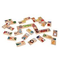 Zerodis 28ピース/セット動物色ジグソーパズルおもちゃウッドビルディングブロックセット教育学習ゲームのおもちゃ誕生日子供のための子供子供幼児