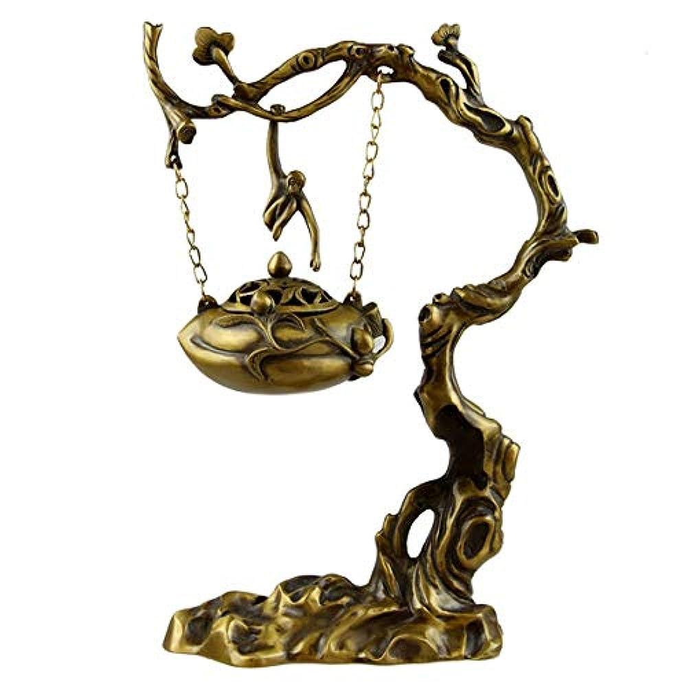 のホスト満了法医学家庭、オフィス、茶室、瞑想、ヨガなどの家庭用銅逆流香コーンホルダーバーナー。逆流香バーナー