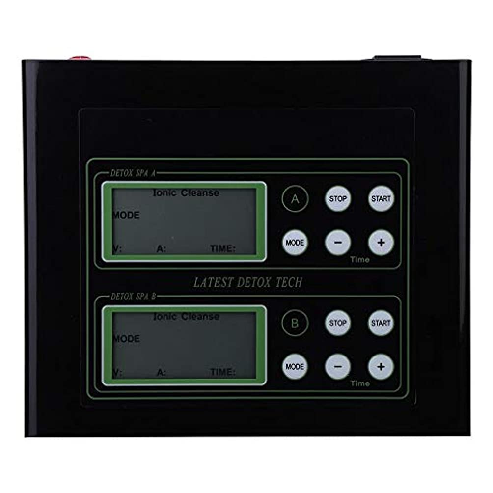 液体驚いたことにあいさつ60Wイオン解毒のフィート機械、親のギフトのためのLCD表示が付いているイオンのフィートの浴室の二重使用(US)