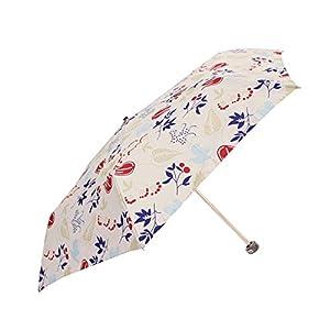 LONGCHAMP(ロンシャン) 耐風 折りたたみ傘 オートオープン バードリーフ柄 ホワイト 全2色 6本骨 55cm AS06M-WHITE